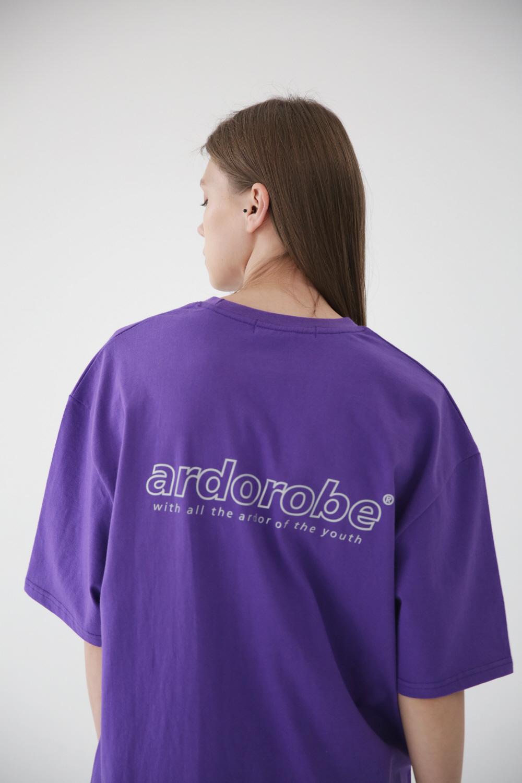 아더로브(ARDOROBE) 로고 스카치 오버핏 반팔티 ATS182201-PP