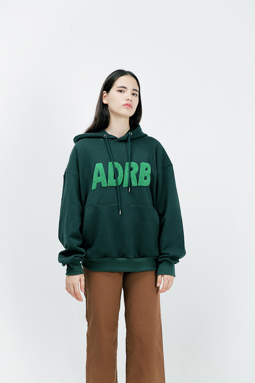 아더로브(ARDOROBE) ADRB LOGO 오버핏 후드티 AHD183001-GN