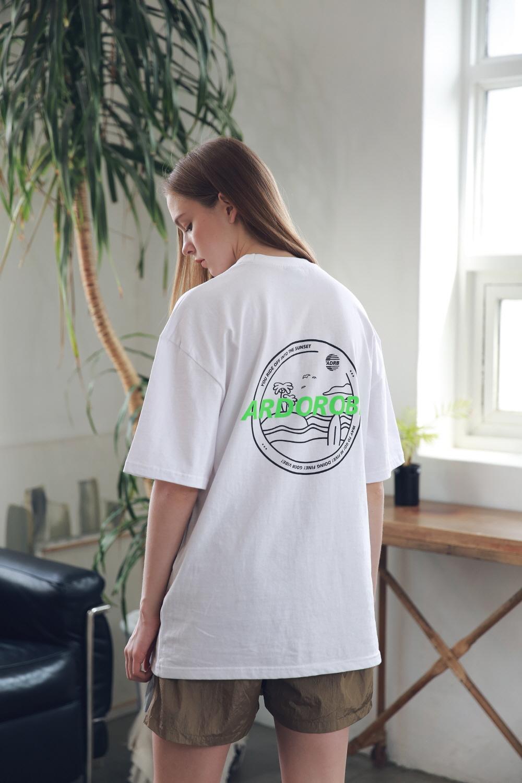 아더로브(ARDOROBE) 유니섹스 아일랜드 서클 티셔츠 ATS192004-WT