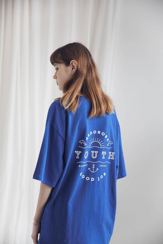 아더로브(ARDOROBE) 유니섹스 유스 서클 티셔츠 ATS191001-WT