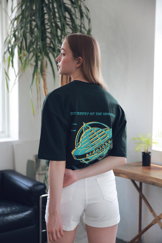 아더로브(ARDOROBE) 유니섹스 글로브 티셔츠 ATS192003-GN